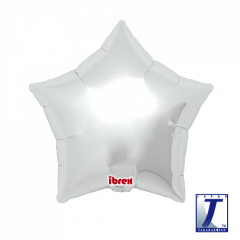 Ibrex Zvijezda Metallic Silver folija balon