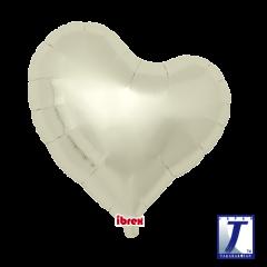"Ibrex ""Sweet"" Srce Metallic Ivory folija balon"
