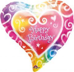 Standard Watercolour Birthday folija balon
