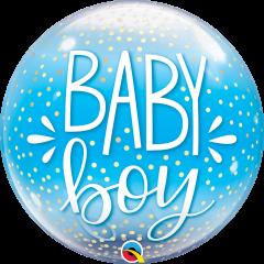 Bubble Baby Boy Blue & Confetti Dots pvc balon