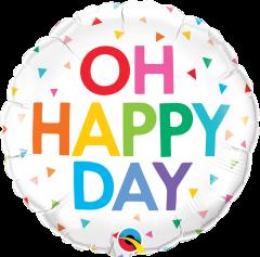 Standard Oh Happy Day Rainbow Confetti folija balon