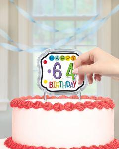 Dekoracija za torto Happy Birthday
