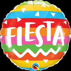 Standard Fiesta Rainbow Stripes folija balon