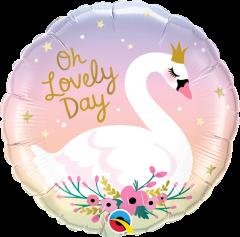Standard Oh Lovely Day Swan folija balon
