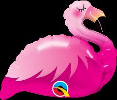 Mini Pink Flamingo folija balon na palčki
