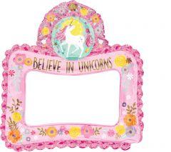 Maxi Selfie Frame Magical Unicorn folija balon