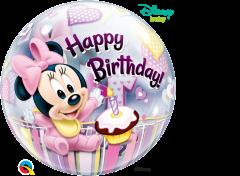 Bubble Minnie Mouse 1st Bday pvc balon