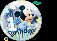 Bubble Mickey Mouse 1st Bday pvc balon