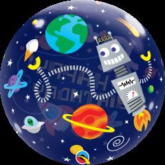 Bubble Bday Outer Space pvc balon