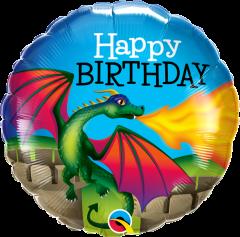 Standard Bday Mysthical Dragon folija balon