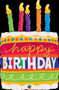 Maxi Bday Cake & Candles folija balon