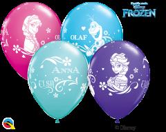 Lateks baloni 28cm Anna, Elsa&Olaf Special Ast