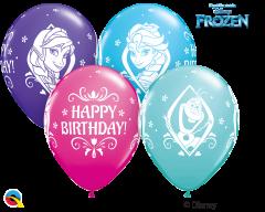 Lateks baloni 28cm Frozen Bday Special Ast