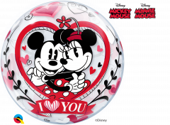 Bubble Mickey&Minnie I Love You pvc balon