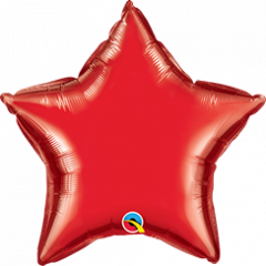 Mini zvezda folija balon na palčki 10 cm - Ruby Red