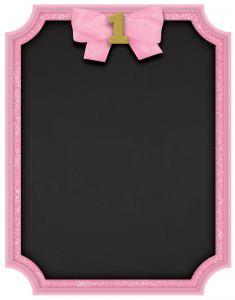 1st Birthday Pink & Gold tabla