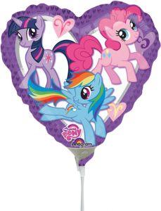 Mini My Little Pony Heart folija balon na palčki