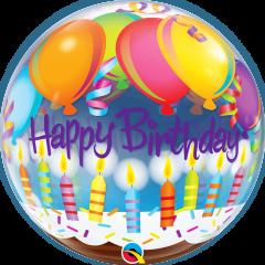 Bubble Bday Balloons & Candles pvc balon