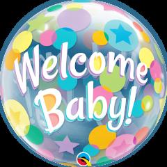 Bubble Welcome Baby Colorful Dots pvc balon