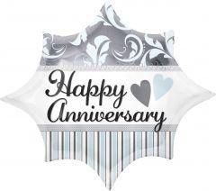 Standard Elegant Happy Anniversary Burst folija balon