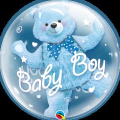 Bubble Baby Blue Bear pvc balon