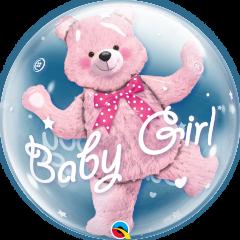 Bubble Baby Pink Bear pvc balon