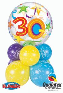 Bubble balonska dekoracija 30 Brilliant Stars