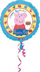 Standard Peppa Pig Happy Birthday folija balon