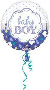 Standard Baby Boy Scallop folija balon