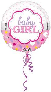 Standard Baby Girl Scallop folija balon