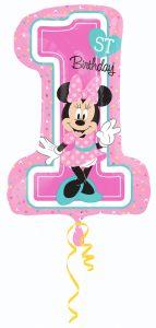 Maxi Minnie 1st Birthday folija balon