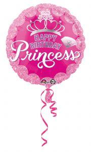 Standard Princess Crown & Gem HBD folija balon