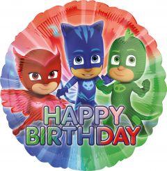 Standard PJ Masks Happy Birthday folija balon