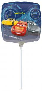 Mini Cars 3 folija balon na palčki