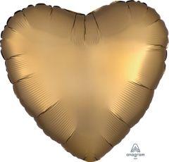Standard srce Satin Luxe Gold Sateen folija balon
