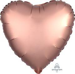 Standard srce Satin Luxe Rose Copper folija balon