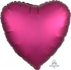 Standard srce Satin Luxe Pomegranate folija balon
