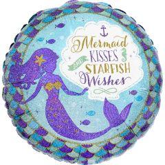 Standard Mermaid Wishes & Kisses folija balon