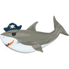 Maxi Ahoy Birthday Shark folija balon