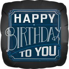 Standard Happy Birthday Man folija balon