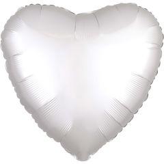 Standard srce Satin Luxe White folija balon