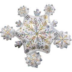 Maxi Shining Snow Cluster Holographic folija balon