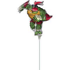 Mini  Rise Of The TMNT Raphael folija balon na palčki