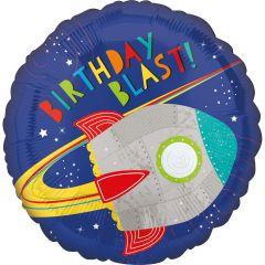 Standard HX Blast off Birthday folija balon