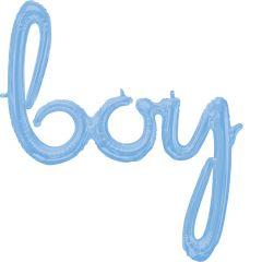 Napis Boy Pastel Blue folija balon