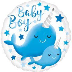 Standard Narwhal Baby Boy folija balon