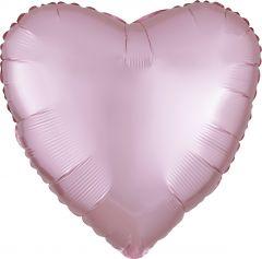 Standard srce Satin Luxe Pastel Pink  folija balon