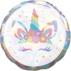 Standard Holographic Iridescent Unicorn Party folija balon