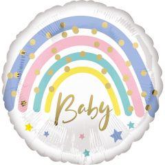 Standard Pastel Rainbow Baby  folija balon