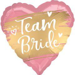 Standard Satin Gold Team Bride folija balon